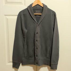 Gap Men's Shawl Collar Cardigan - Grey